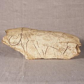 Mamut tallado en marfil de mamut