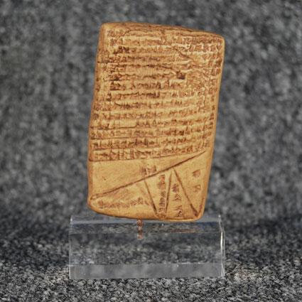 Tabla escritura cuneiforme